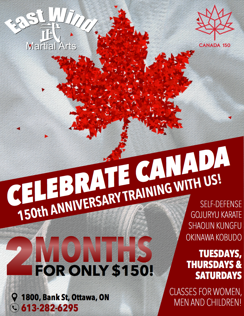 Celebrate Canada's 150th anniversary training with us